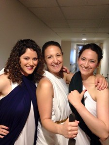 Castmates from 15.282: Elana Berger, MBA '16, Alison Riep, MBA '15, and yours truly