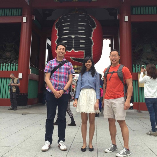 Sloanies touring a Tokyo temple.