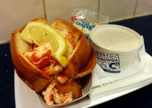 Boston chowda and lobster roll