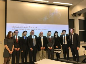 Our team and our project sponsor, CIO of QMA Roy Henriksson and Professor Mark Kritzman