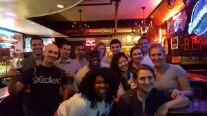 Members of the Class of 2018 at Beacon Hill Pub